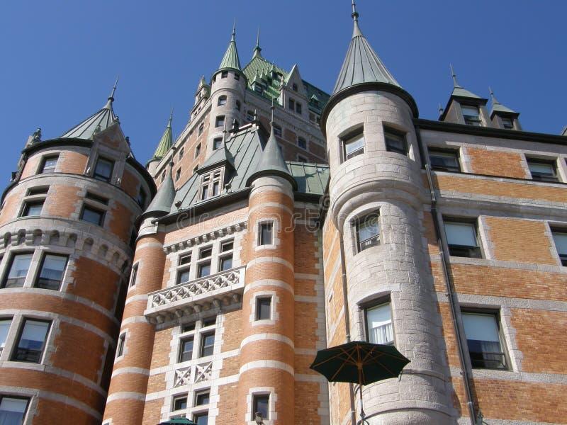 Le Chateau Frontenac i Quebec City royaltyfria bilder