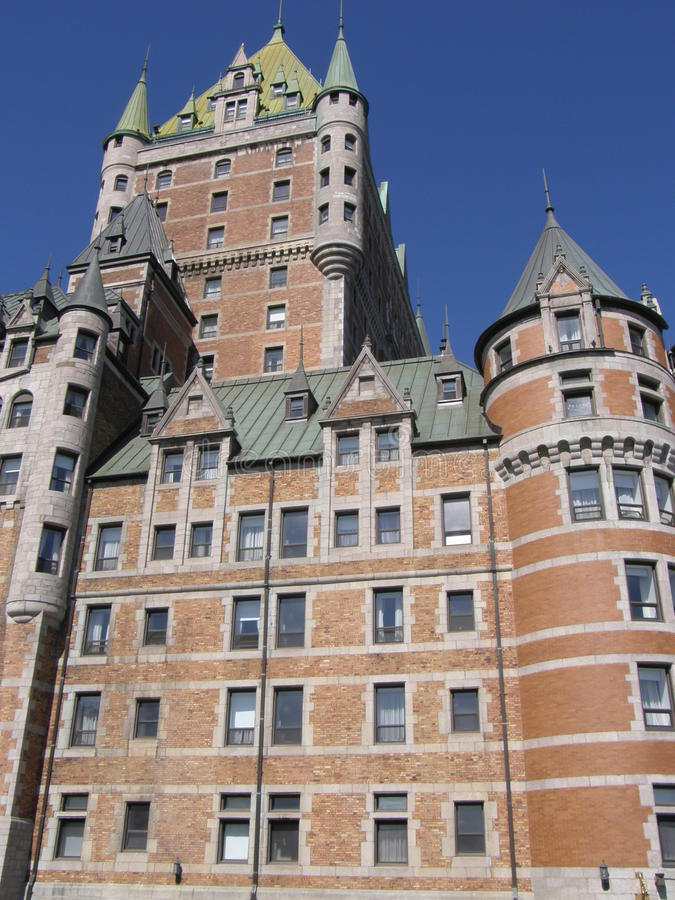 Le Chateau Frontenac in Quebec City stock photos