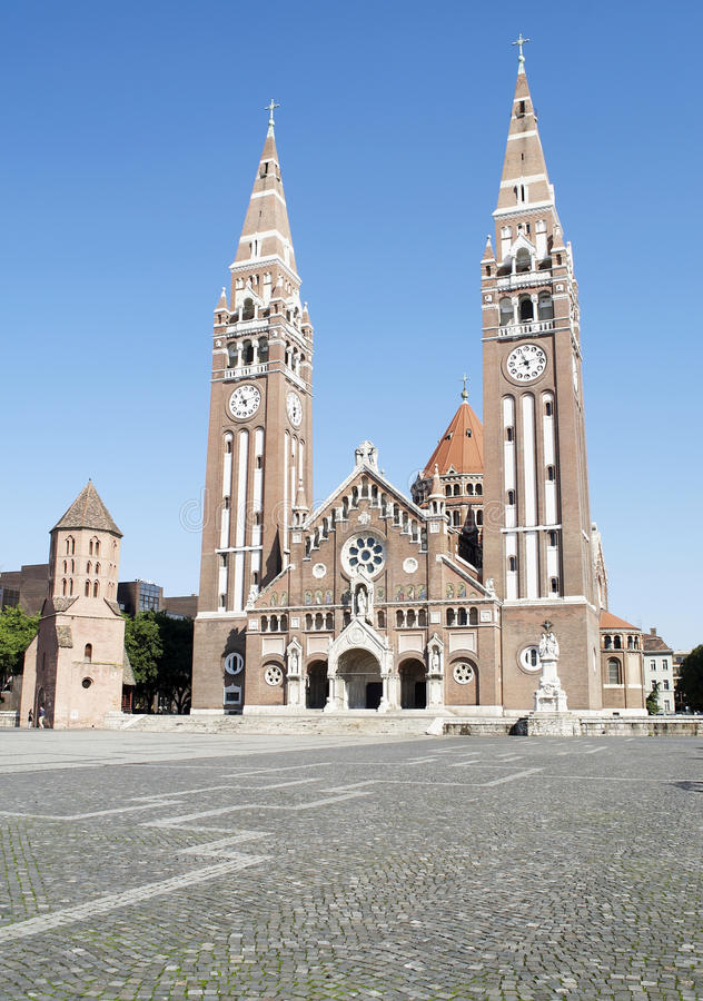 Le Chatedral de Szeged, Hongrie photos libres de droits