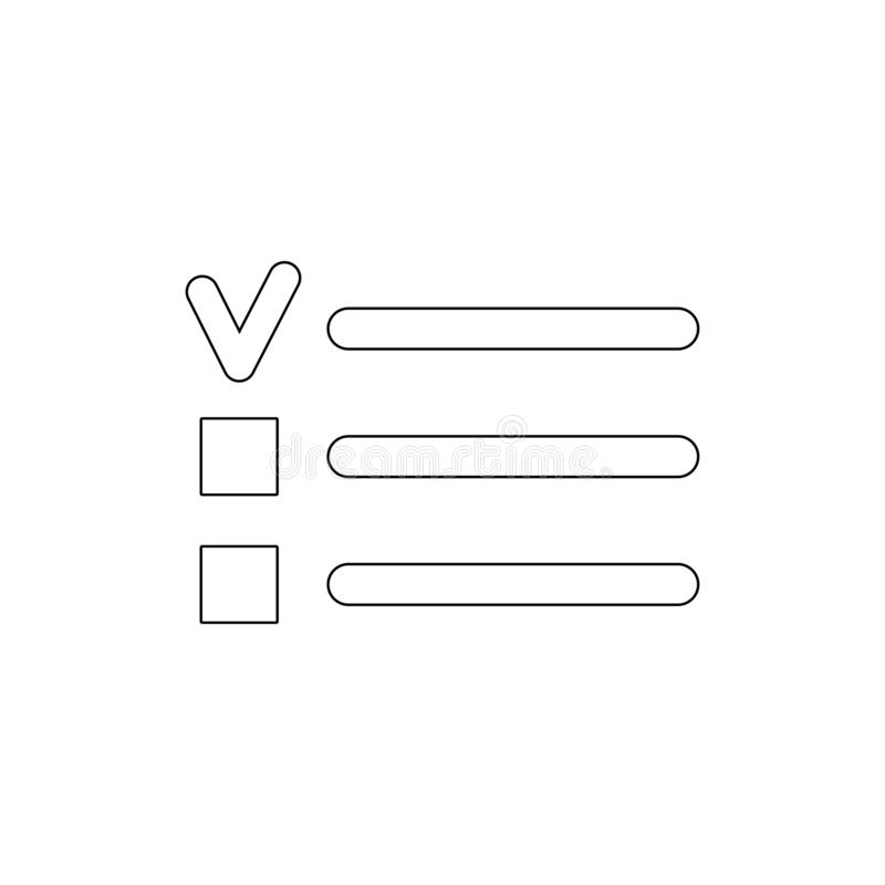 Le checkbox de balles font l'icône d'ensemble de liste Des signes et les symboles peuvent ?tre employ?s pour le Web, logo, l'appl illustration de vecteur