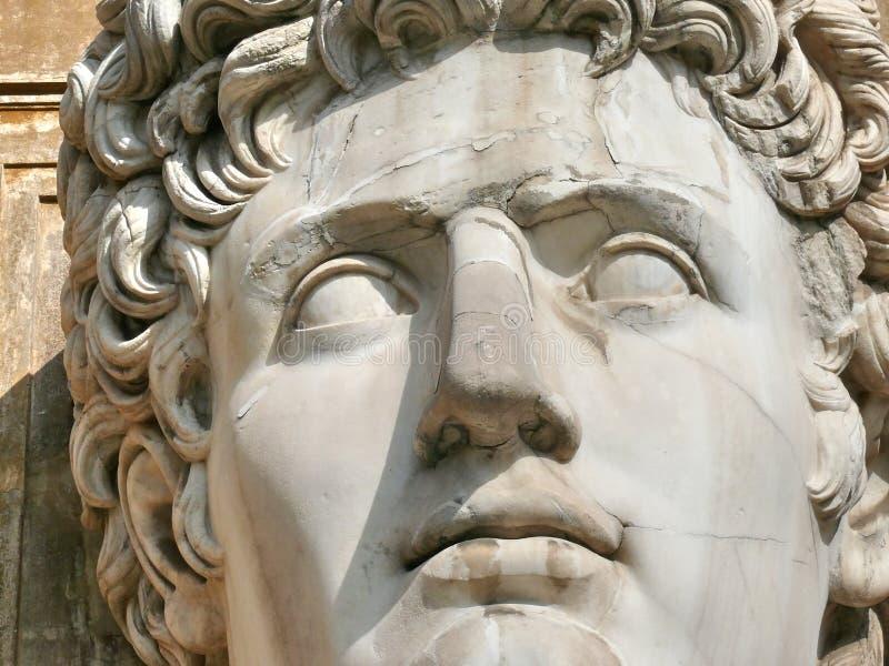 Le chef énorme a découpé en marbre. Vatican. Rome. l'Italie photos libres de droits