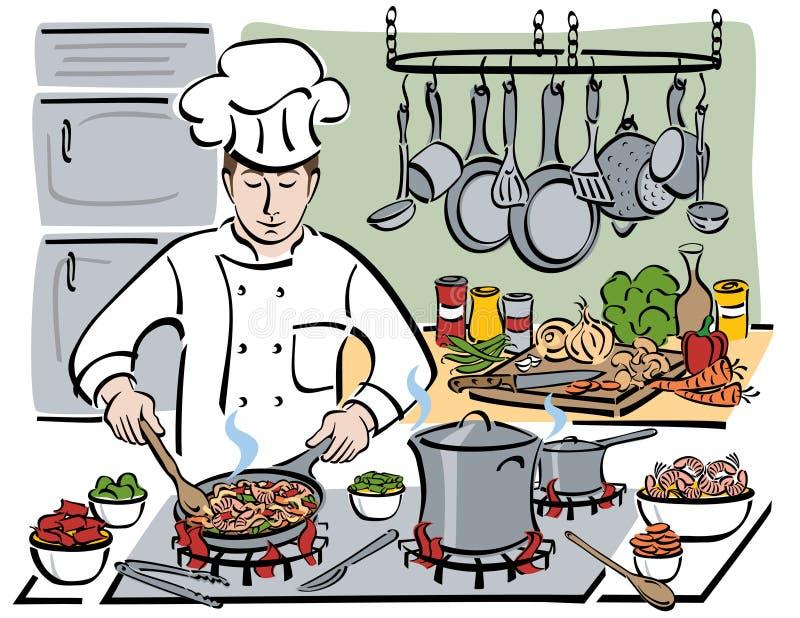 Le chef consommé illustration libre de droits