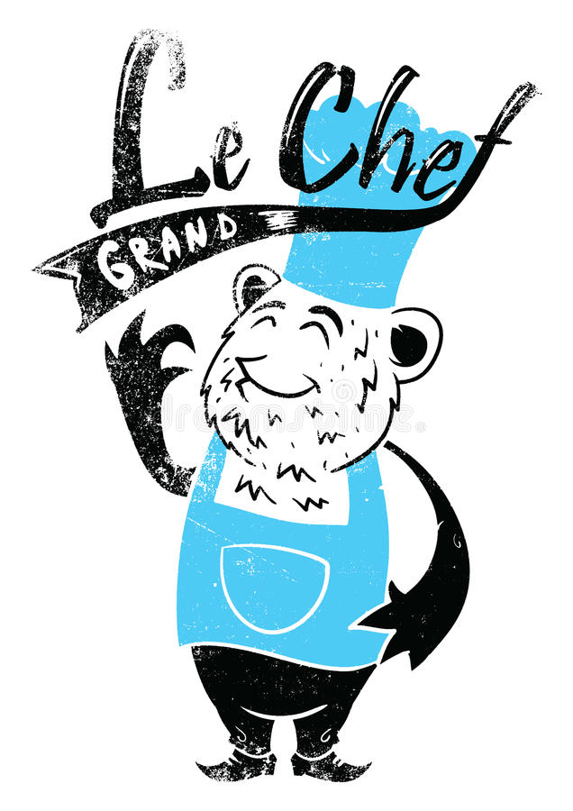 Le chef grand royalty free illustration