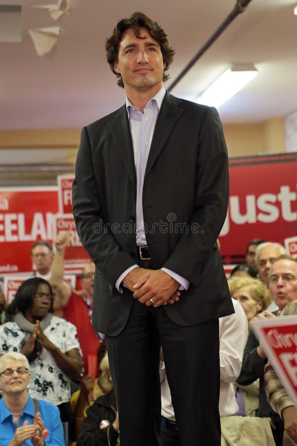 Le Chef Justin Trudeau de parti libéral photo libre de droits