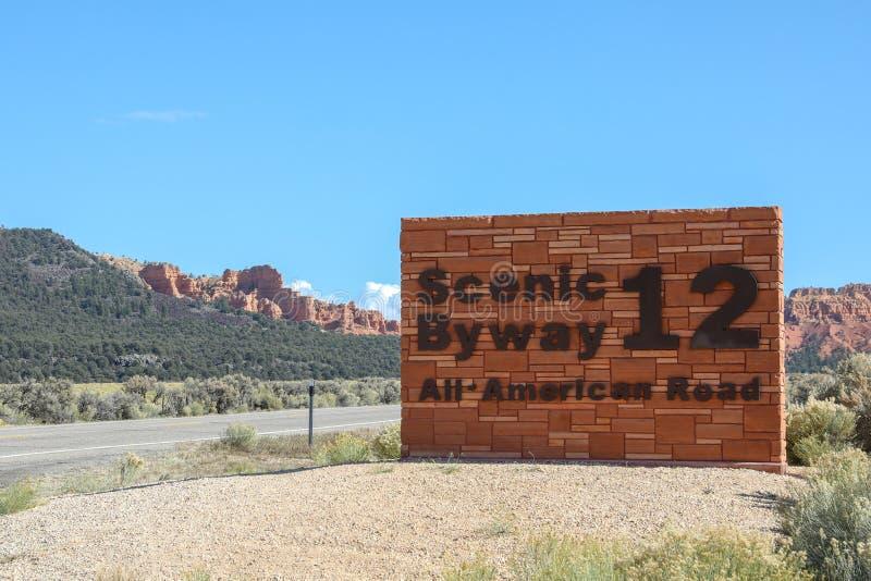 le chemin détourné scénique 12 en Utah photographie stock libre de droits
