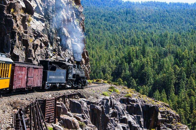 Le chemin de fer étroit de Durango à Silverton images stock