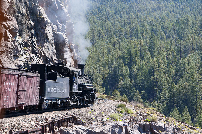 Le chemin de fer de Durango à la ville argentée de Silverton le Colorado Etats-Unis images libres de droits
