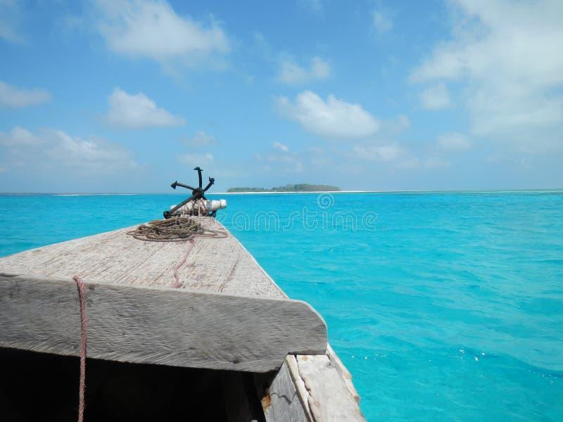 Le chemin vers le paradis bleu image stock