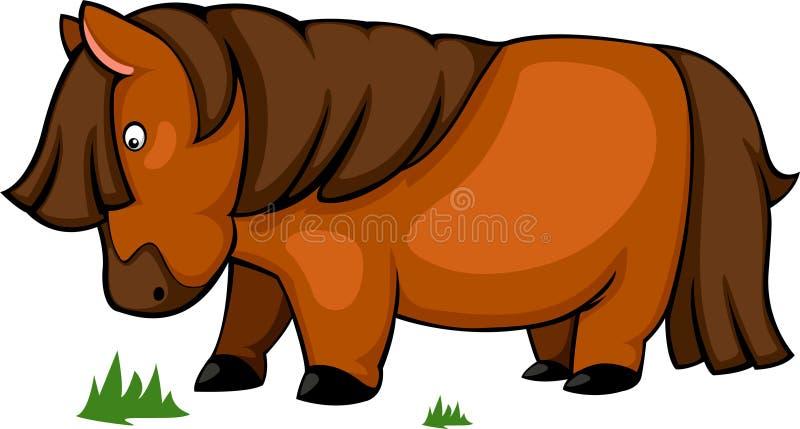 le cheval de vecteur mangent l'illustration d'herbe illustration libre de droits