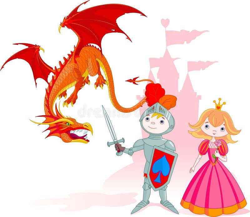Le chevalier courageux illustration stock