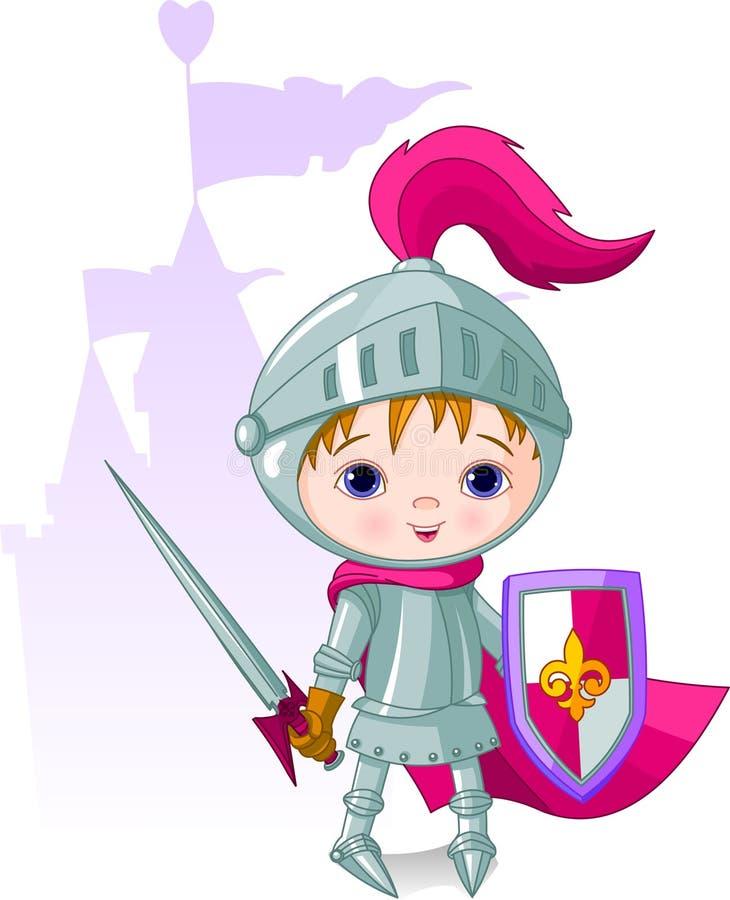 Le chevalier courageux illustration libre de droits