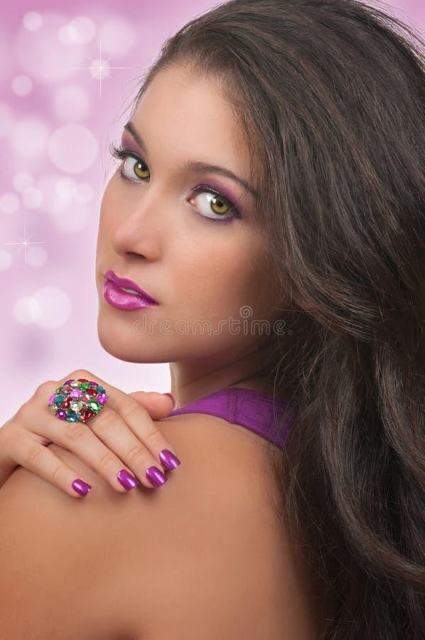 Le cheveu, composent et Manicure image libre de droits