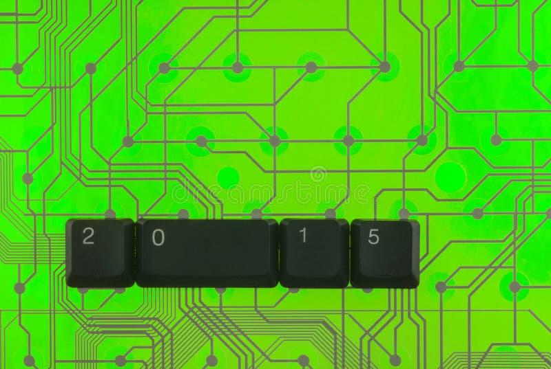 Le chiavi di tastiera hanno presentato la parola 2015 fotografie stock libere da diritti