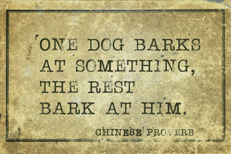 Le chien écorce le CP illustration libre de droits