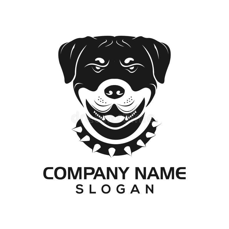 Le chien, conception de chien de rottie deviennent des calibres pour l'animal, l'animal familier, etc. logos illustration libre de droits