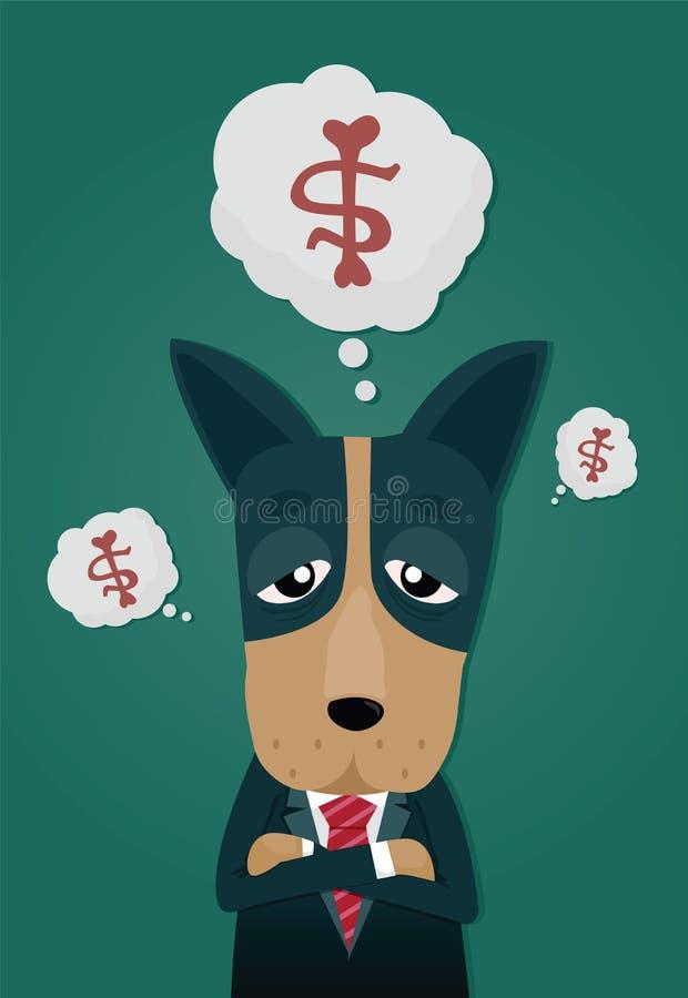 Le chien dans le costume illustration libre de droits