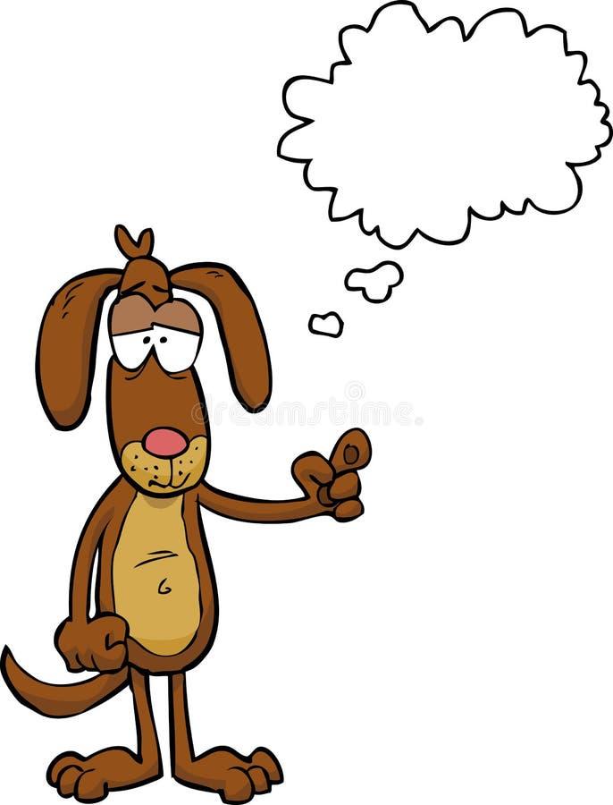 Le chien de bande dessinée indique illustration stock