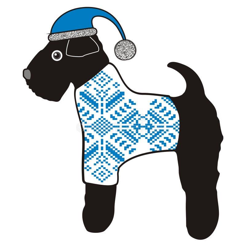 Le chien est un symbole des 2018 nouvelles années chinoises illustration libre de droits