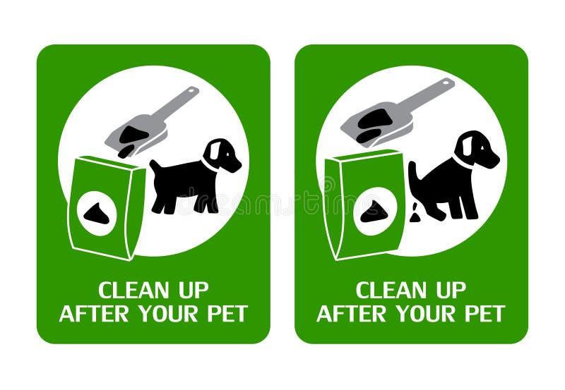 Le chien nettoient signe illustration de vecteur