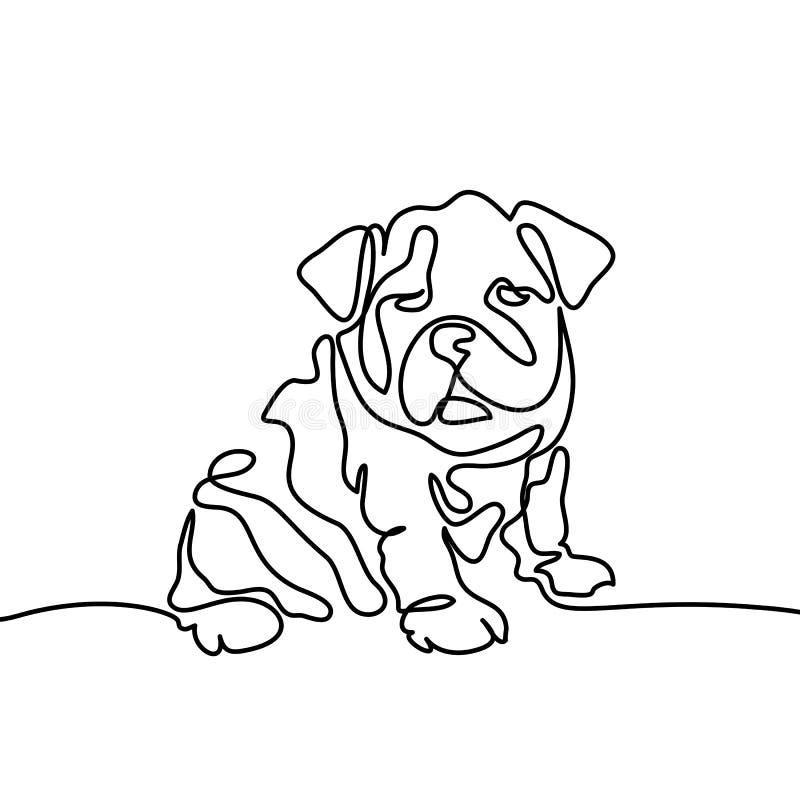 Le chien sautant et jouant illustration stock
