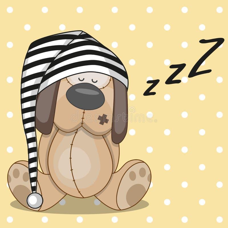 Le chien terrier d'obturation jeûnent en sommeil illustration libre de droits