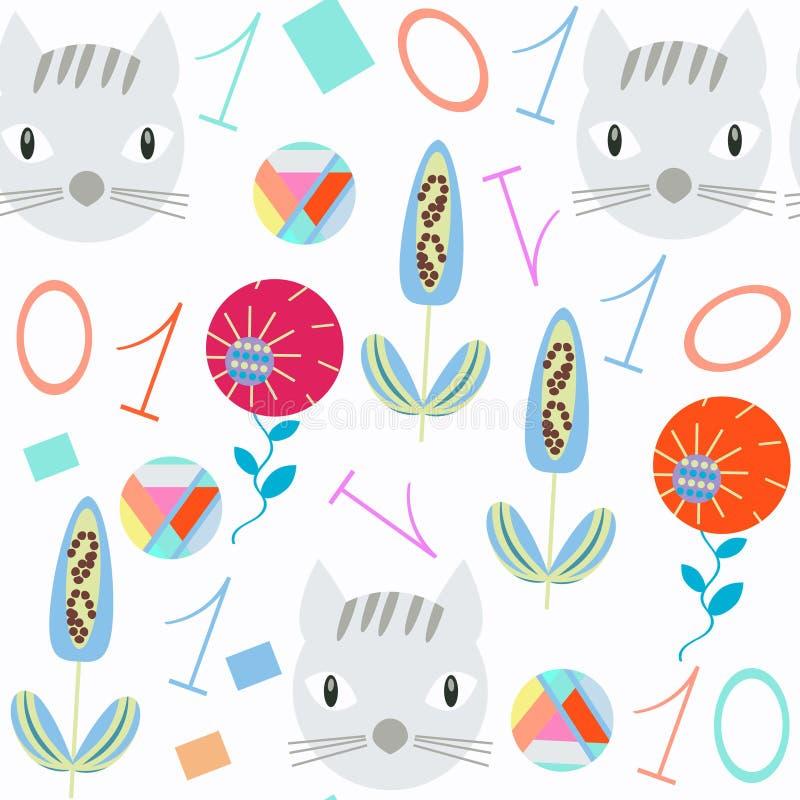 Le chiffre badine le modèle sans couture Il est situé dans le menu d'échantillon, image Illustration lumineuse Image colorée pour illustration libre de droits