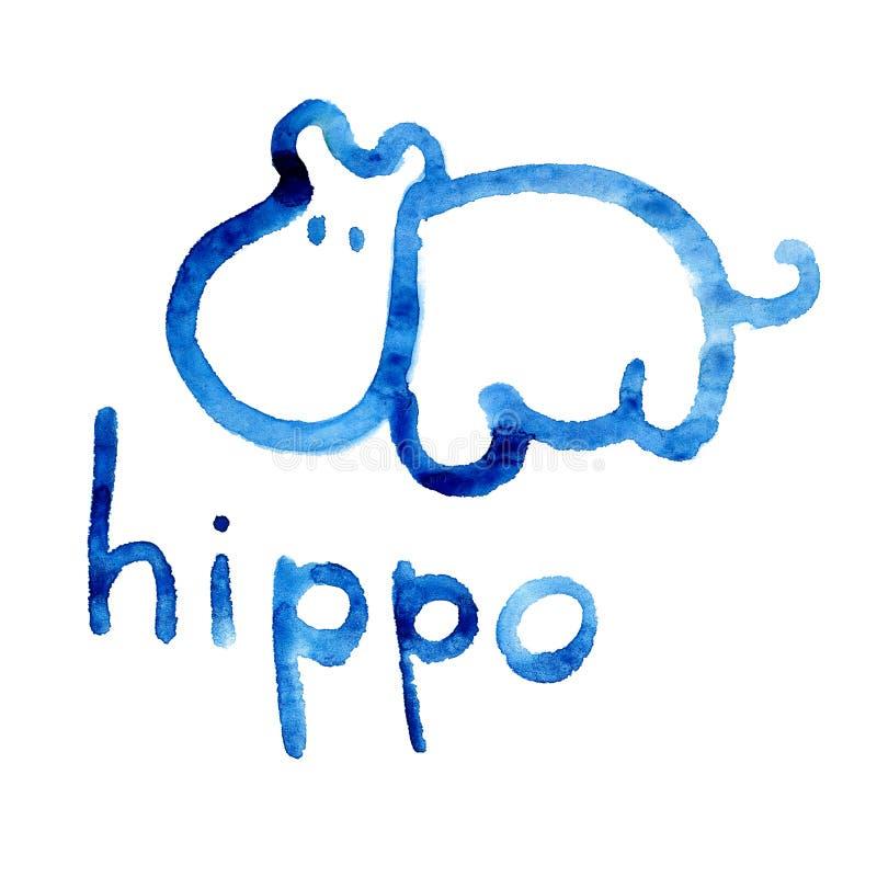 Le chiffre d'hippopotame s'est adapté pour la perception de l'enfant illustration libre de droits