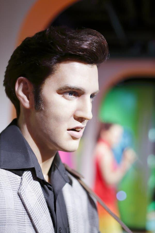 Le chiffre de cire d'Elvis Presley photos libres de droits