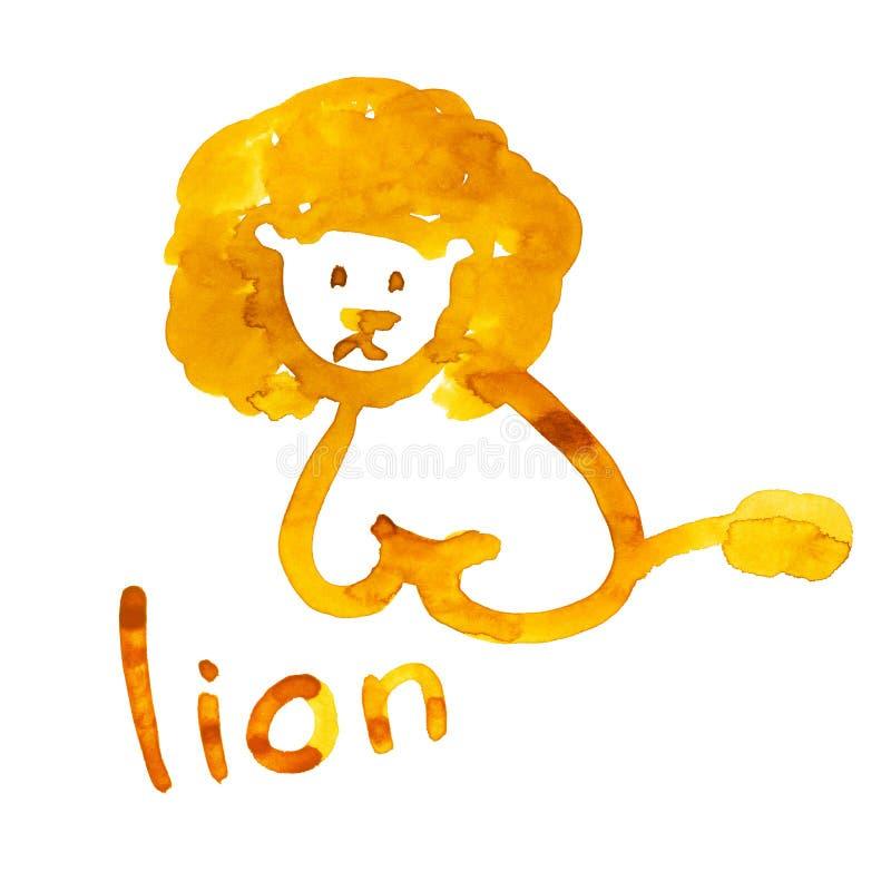 Le chiffre de lion s'est adapté pour la perception de l'enfant illustration de vecteur
