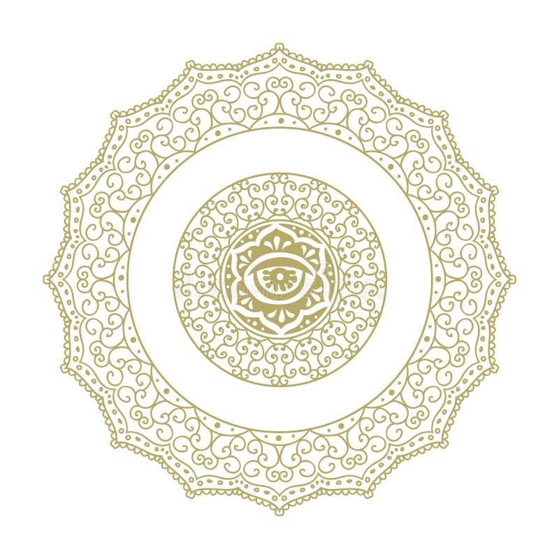 Le chiffre ornemental, mandala aiment illustration de vecteur