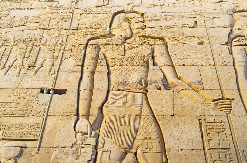 Le chiffre sur le Temple& x27 ; mur de s photos libres de droits
