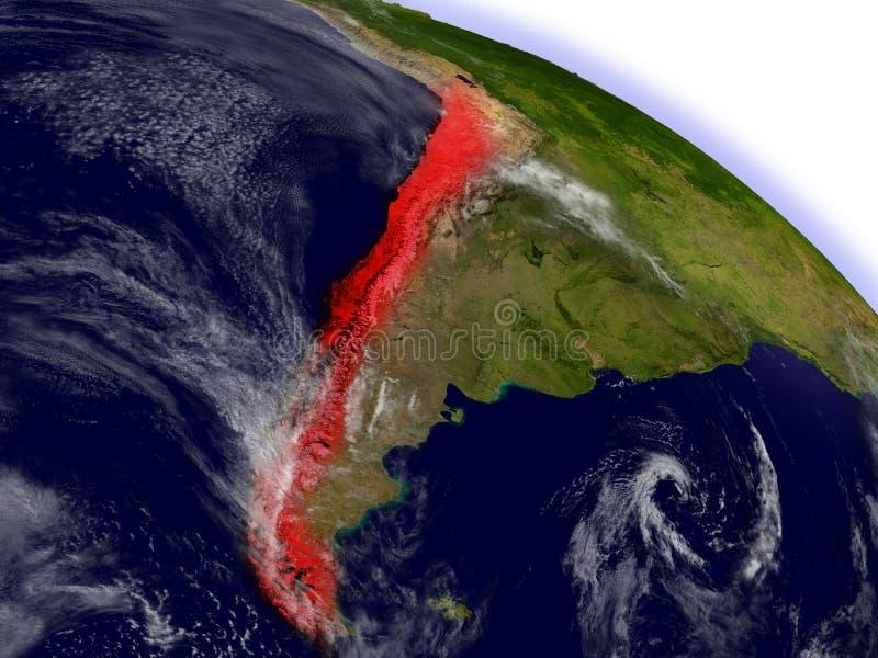 Download Le Chili De L'espace Accentué En Rouge Illustration Stock - Illustration du nature, ciel: 77163531
