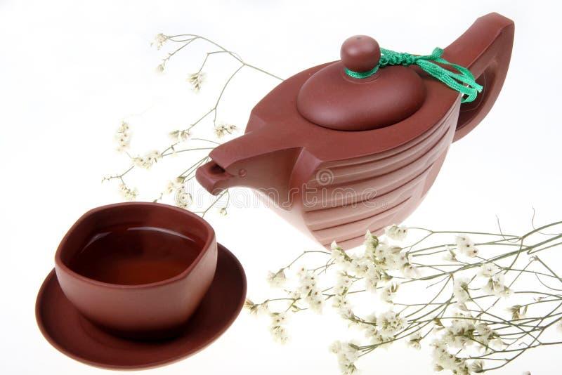 le Chinois place le thé traditionnel image libre de droits