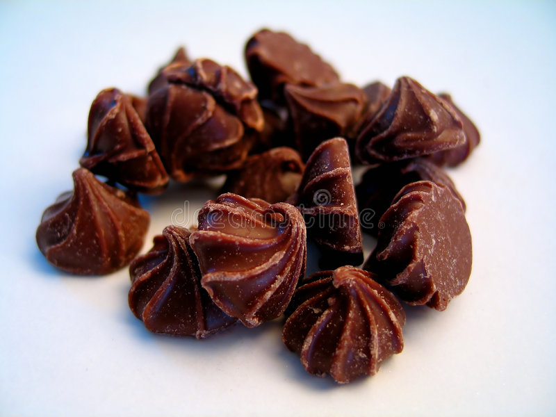 Le chocolat bourgeonne II photographie stock