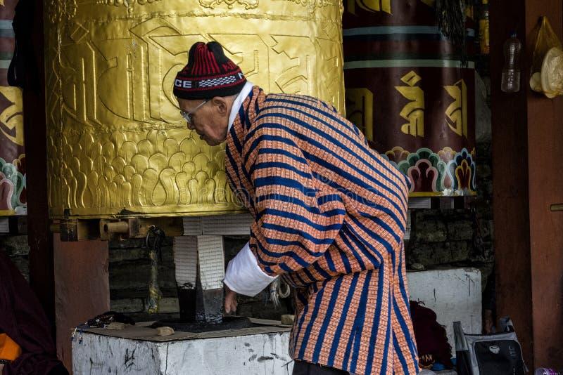 Le Chorten commémoratif national situé à Thimphou, Bhutan photos libres de droits