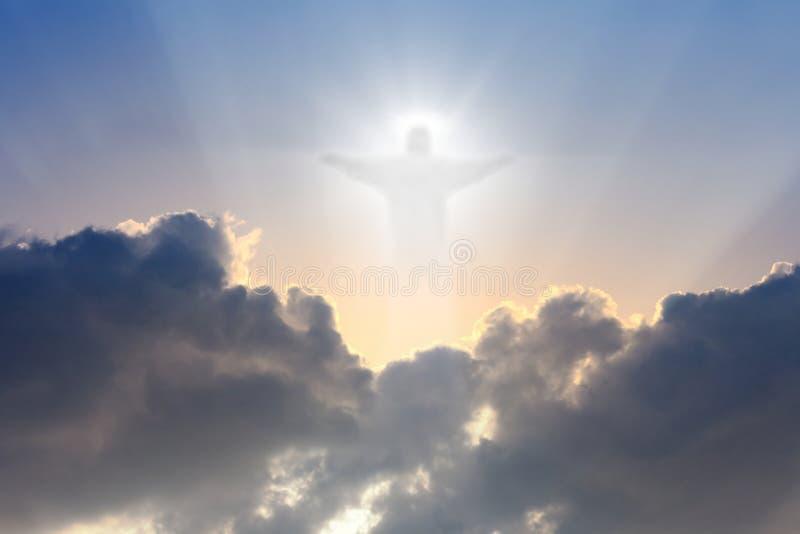 Le Christ en ciel images stock