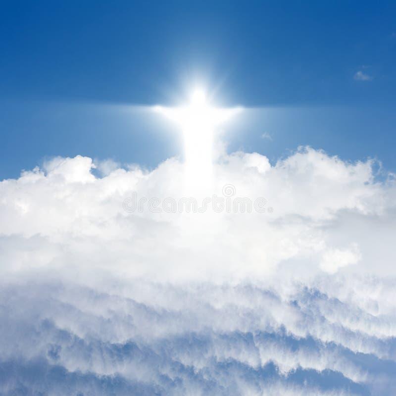 Le Christ en ciel photo libre de droits