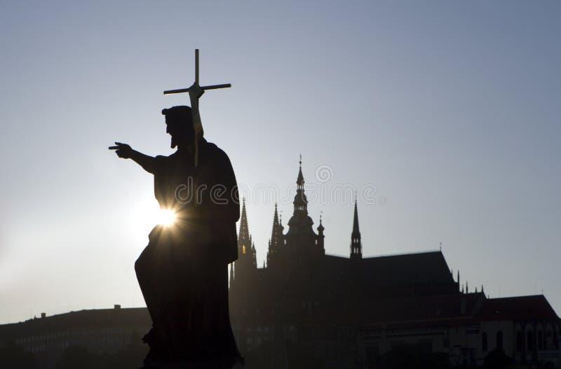 Le Christ en soleil photo stock