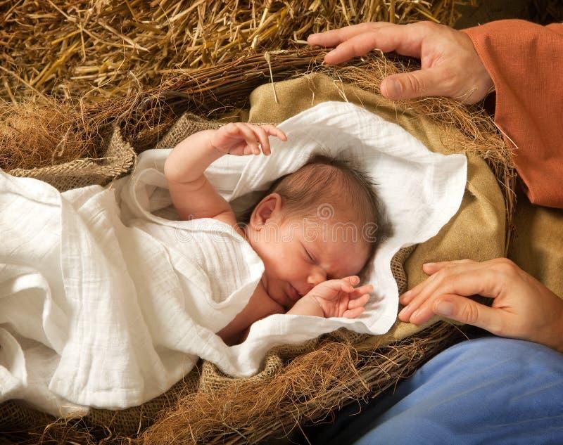 Le Christ est né photos libres de droits