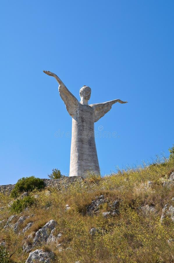 Le Christ le rédempteur de Maratea. Basilicate. l'Italie. photos stock