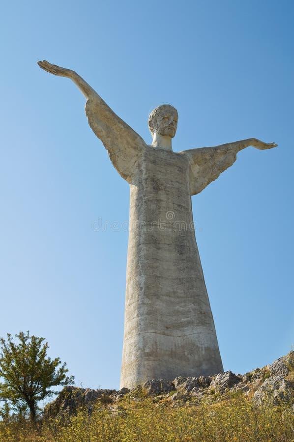 Le Christ le rédempteur de Maratea. Basilicate. l'Italie. photographie stock libre de droits