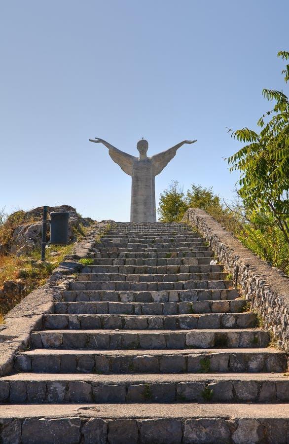 Le Christ le rédempteur de Maratea. Basilicate. l'Italie. photographie stock