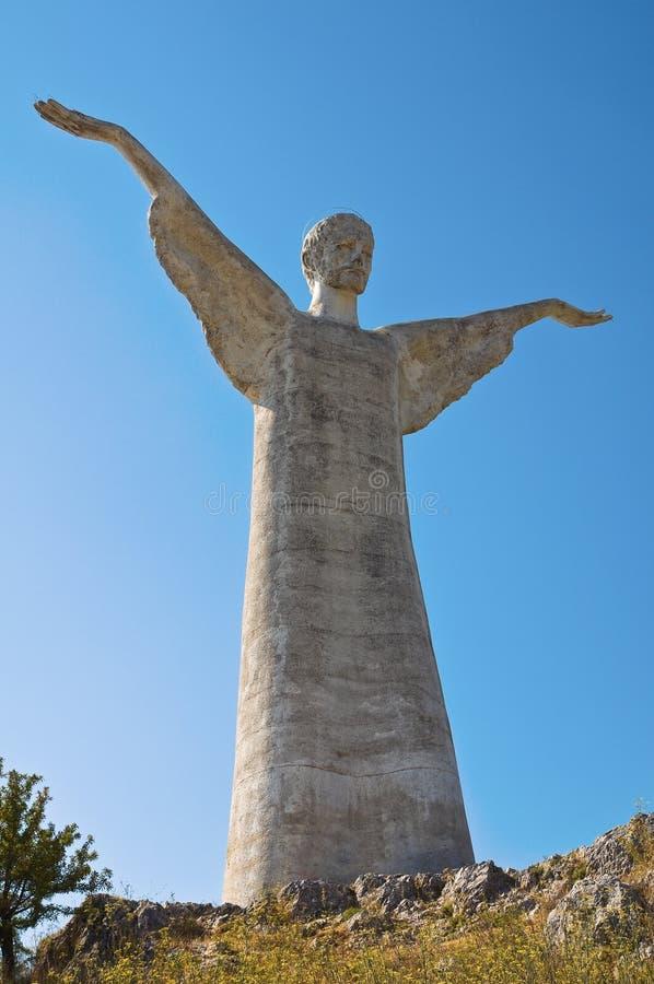 Le Christ le rédempteur de Maratea. Basilicate. l'Italie. images stock