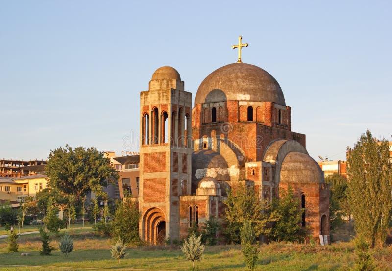 Le Christ non fini la cathédrale de sauveur dans Pristina, Kosovo images libres de droits