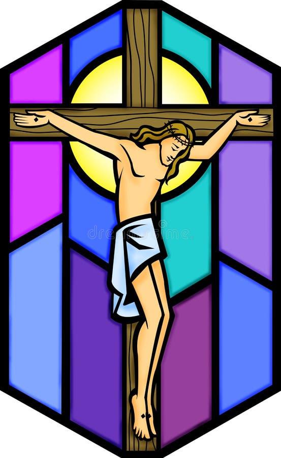 Le Christ sur la croix illustration de vecteur