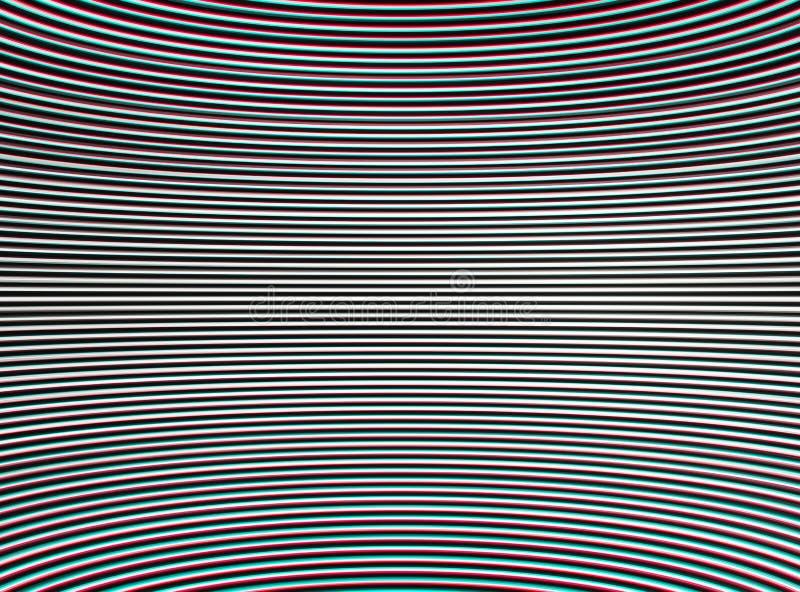 Le chroma stéréo horizontal a entrelacé et a courbé des lignes résumé de TV illustration stock