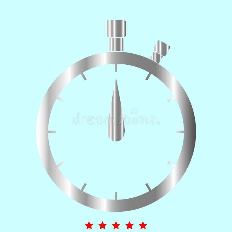 Le chronomètre c'est icône de couleur illustration libre de droits