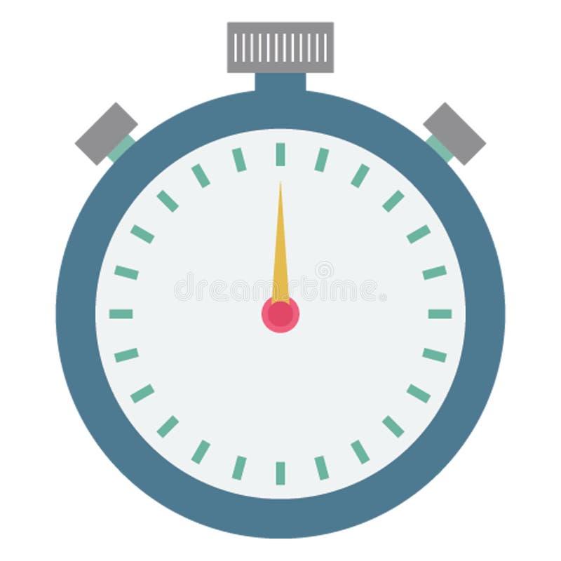 Le chronomètre, commerce a isolé l'icône de vecteur qui peut être facilement éditée illustration stock