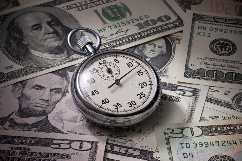 Le chronomètre d'argent de temps sauvegardent image libre de droits