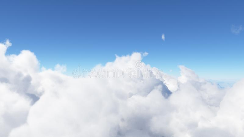 Le ciel bleu avec les nuages 3D rendent photo stock